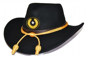 Brigadier General Black Slouch Hat Gold Cord & Badge